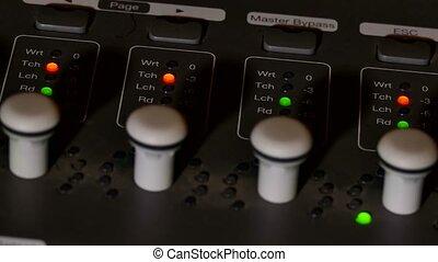 man mixer musician brings remote studio music console - man...