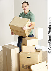 Man Moving Into New Home