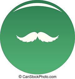 Man mustache icon vector green