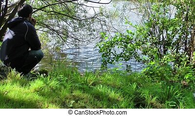 Man near the lake