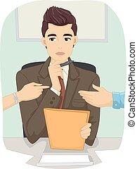 Man Occupation Divorce Mediator - Illustration of a Male...