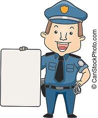 Man Occupation Police Board