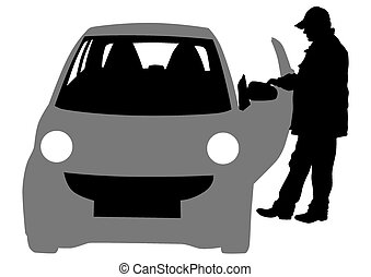 Man of car