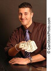 man offering cash 2442 - man offering cash model released...