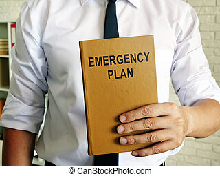 Man offers a Emergency plan for business.
