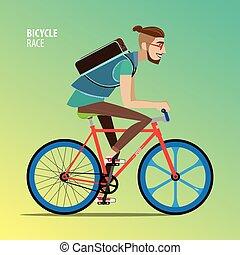 Man on a fix gear bike