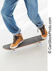 Man on a skateboard