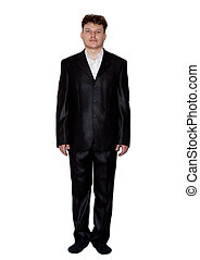 man on a white background