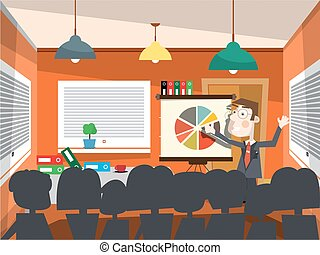Man on Business Conference Vector