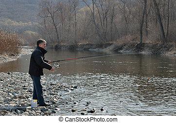 Man on fishing