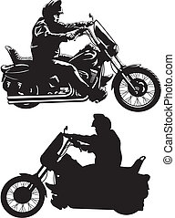 man on motorcycle - easy rider - man riding a bike