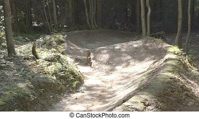 Man on mountain bike riding bike