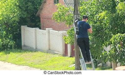 Man on Pole
