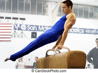 Man on pommel