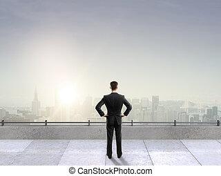 man on roof