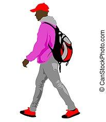? Man on street one