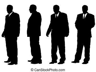 Man on suit