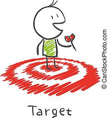 man on target