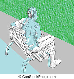 man on the bench