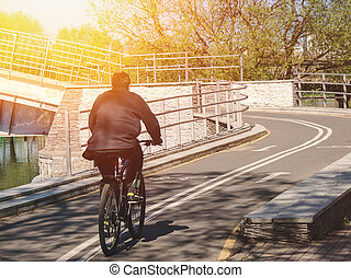Man on the bicycle
