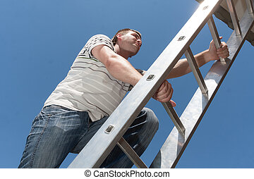 Man on the ladder