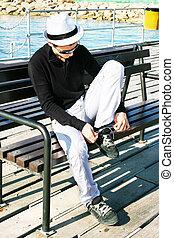 Man on the pier