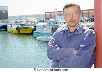 man on the port