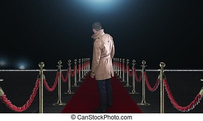 Man on the red carpet
