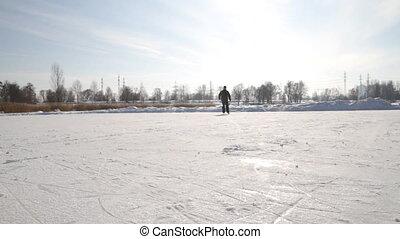 Man on the skates