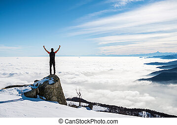 man on the top of the world