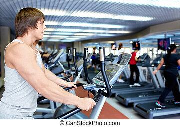 Man on the treadmill