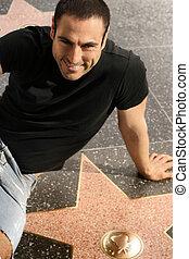 Man on walk of fame