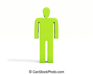 Man on white - Figure of a man on a white background