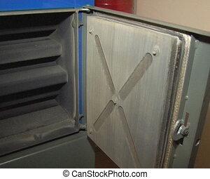 man open boiler door