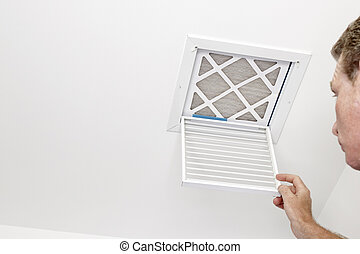 Man Opened a Vent to a Dirty Filter