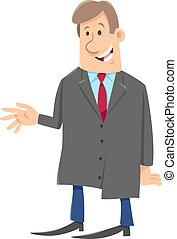 man or businessman comic character