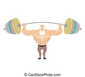 man, oud, atleet, machtig, grootvader, sports., greybeard, ...