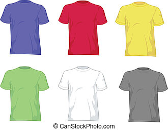 man, overhemden, t