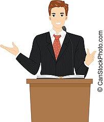 Man Pastor Preach Illustration - Illustration of a Pastor...