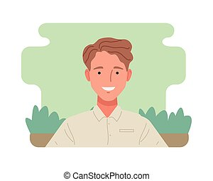 man perfectly imperfect character icon vector illustration design