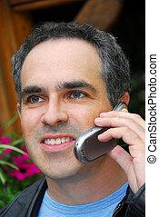 Man phone