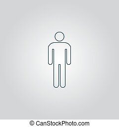 man, pictogram
