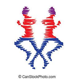 man, pictogram, vector, rennende