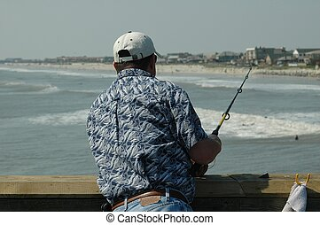 Man Pier Fishing