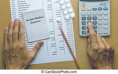 Man Planning Health expenses