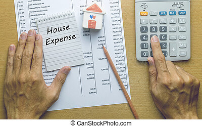 Man Planning monthly House expense