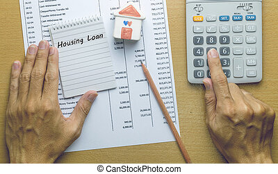 Man Planning monthly Housing loan