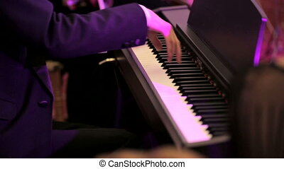 Man Playing Classical Music On Piano