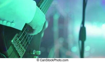 Man playing music on guitar