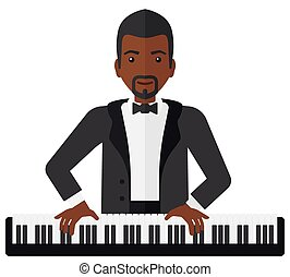 Man playing piano.